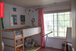 habitacion de niños antes y despues