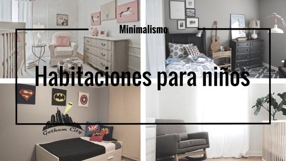minimalismo habitaciones niños